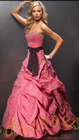 photo-robe-de-soiree-bustier-rose-maron.130